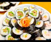 簡単!うま♡甘辛豚肉サンチュ海苔巻き♡の写真