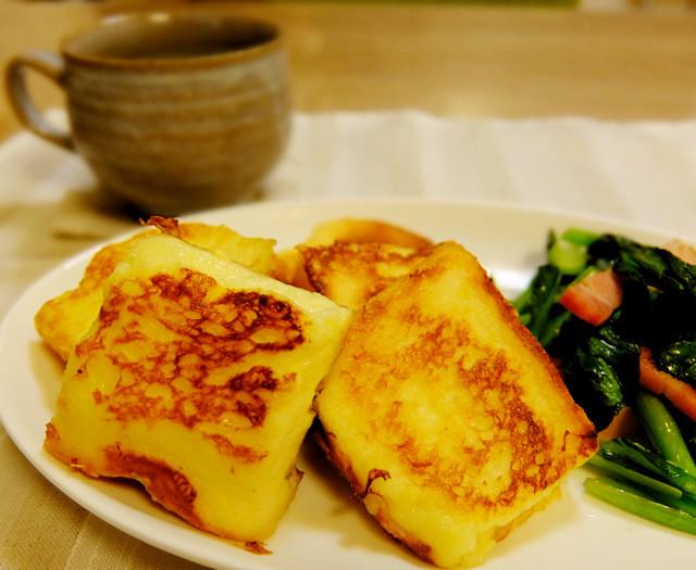 簡単☆ガムシロのふわふわフレンチトースト