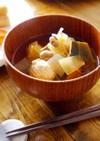 節分の豆で。鶏団子とかぼちゃのスープ