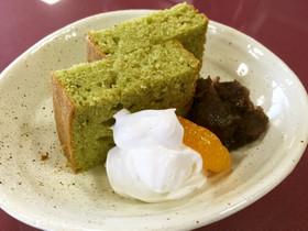 三温糖を使って♪簡単抹茶パウンドケーキ