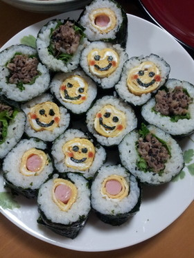 恵方巻き3種☆子供の節分に♪巻き寿司
