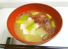 """豆腐と""""府海苔""""のお味噌汁"""