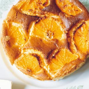 オレンジスフレチーズケーキ