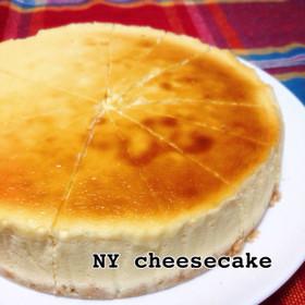 手作りクリームチーズでNYチーズケーキ♡