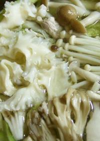 豚バラ肉の白菜・きのこ鍋