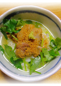 鯛(マトウダイ)の金ごま茶漬け