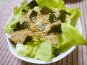 酢納豆でダイエット☆海苔レタスサラダの写真