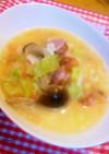簡単!トマトとレタスの洋風チーズ雑炊