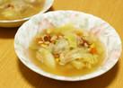 ミックスベジタブルと大豆のコンソメスープ