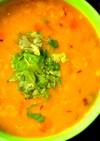 レンズ豆のインドカレー(圧力鍋使用)