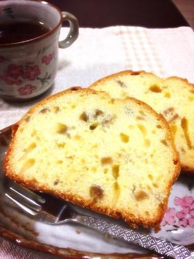 梅酒で和風ブランデーケーキ