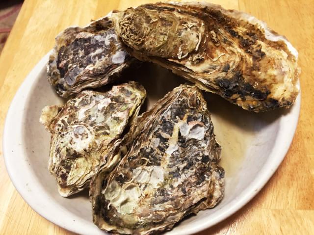 レンジで焼き牡蠣