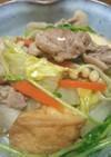 豚こまと白菜のすき焼き風炒め