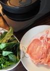 自家製すき焼きのたれで食べる、豚すき焼き