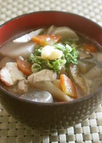 翌日も美味♪麺つゆで簡単素朴なけんちん汁