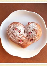 バレンタイン♥ハート型ふわふわココアパン