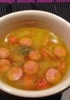 簡単☆ウインナーとレンズ豆の塩スープ