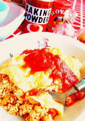ダイエット◆糖質制限◆木綿豆腐オムライス