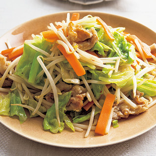シャキシャキ肉野菜炒め