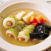 ロール白菜の和風ポトフ