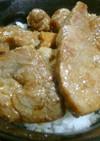 我が家の豚丼(帯広風)