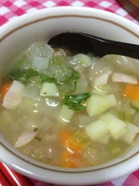 野菜たっぷりスープでホッコリ(^^)