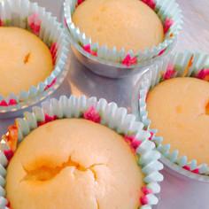 リメイクお菓子♡もちもち蒸しパン風ケーキ