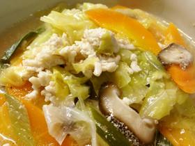 ✾鶏ひき肉とたっぷり野菜のおかずスープ