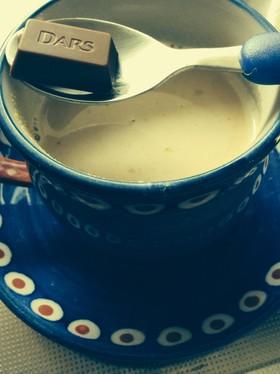 きな粉豆乳➕チョコのホットドリンク