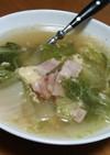 食欲ないときに簡単白菜とベーコンのスープ