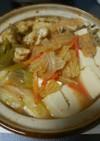 豆腐ともやしのキムチ味噌スープ鍋