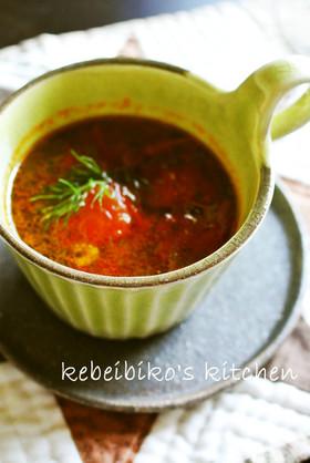 香りを楽しむフェンネルとトマトのスープ