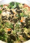麺つゆで生米から薬味粥