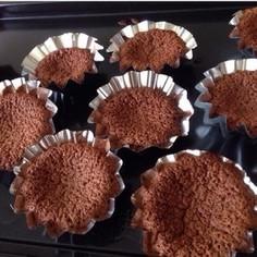 簡単材料2つ@チョコカップケーキ