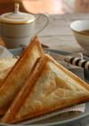 簡単冷凍パイ生地チーズチョコホットサンド