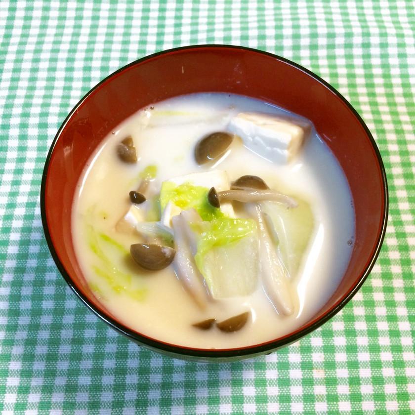 簡単豆乳スープ~♪