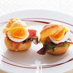 ビネガー風味ハム&ゆで卵のシュー