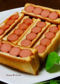 シンプルに★ソーセージのサンドイッチ★