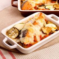 ラタトゥイユサーモンのチーズ焼き