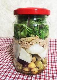 保存瓶で作り置き☆里芋と豆のジャーサラダ