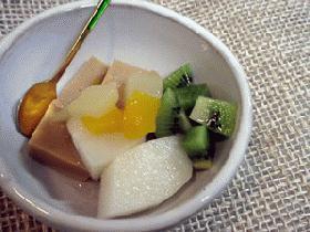 キャラメル風味の杏仁豆腐