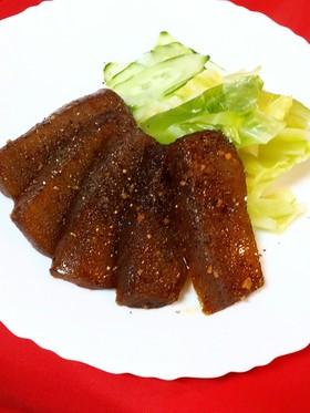 凍り蒟蒻!肉肉しいガーリック醤油ステーキ