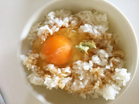 大人TKG☆麺つゆワサビ卵かけご飯☆