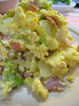 ★白菜&ベーコンの卵とじ★中華風