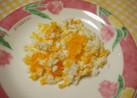 ゆで卵で フワフワ✿花ミモザ✿