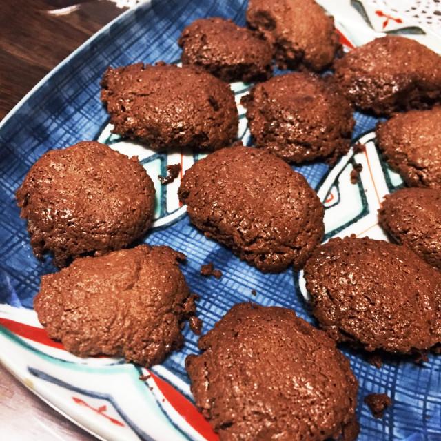 分離チョコの始末に!焼きチョコクッキー
