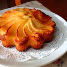 りんごとはちみつのお花パウンドケーキ