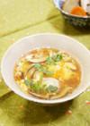 ホタテだしで簡単☆和風かき玉春雨スープ