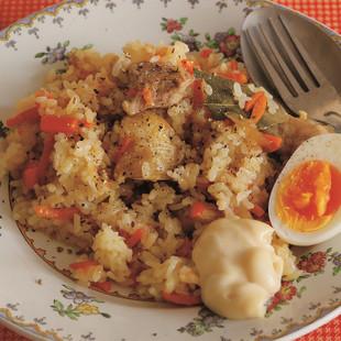 にんじんのプロフ(炊き込みご飯)