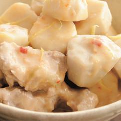 里芋と豚肉の柚子(ゆず)こしょう煮